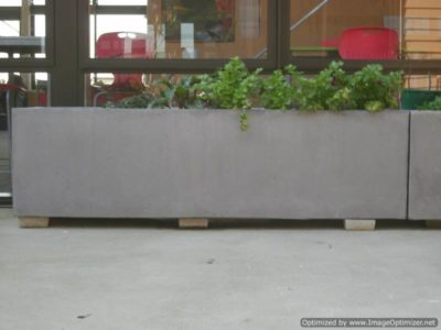 Straight Sided Concrete Trough Planters