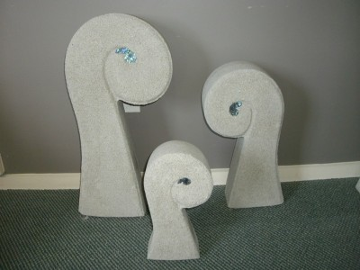 Garden Koru sculptures – Set 3